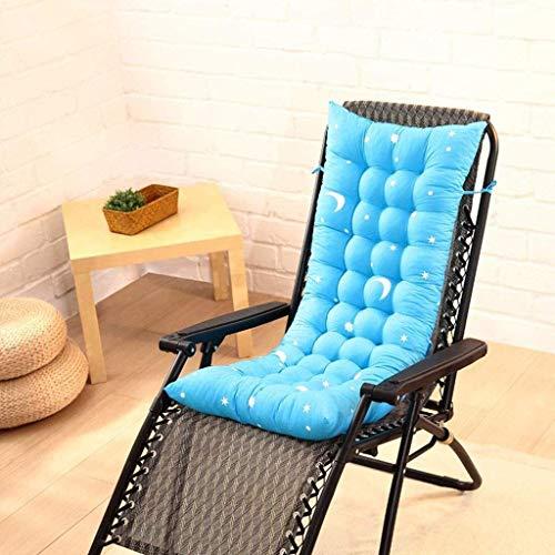 Cojín de silla de balanceo de salón plegable, espesante reclinable almohadilla de asiento almohadilla de asiento silla respaldo antideslizante Banco exterior Cojín D5 / 30 (color: marrón, Tamaño: 110x
