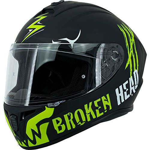 Broken Head Adrenalin Therapy II matt (M 57-58 cm) Motorradhelm – Helm grün – Integralhelm - 2