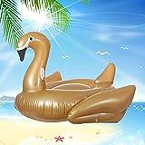 Svvsgf Bote Inflable de Piscina, Cisne Dorado Cisne Negro Fila Flotante Adulto Inflable Montaje PVC Cama Flotante Cama de Agua