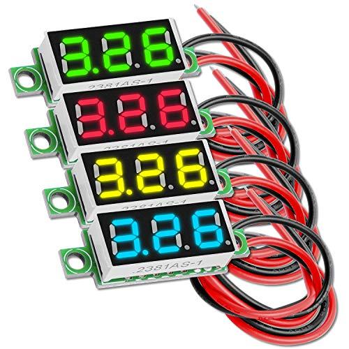 AZDelivery 0.28 Pulgadas Mini Voltimetro Digital con Pantalla LED de 7 Segmentos 2,5V - 30V, Pantalla de Voltaje, Modulo Medicion de Voltaje con E-Book incluido!