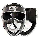 Field Hockey Face Mask Clear Transparent Penalty Corner Protection Black Padding (Junior)
