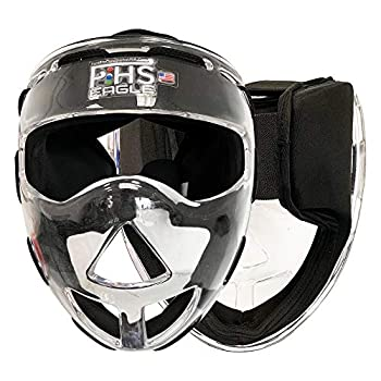 Field Hockey Face Mask Clear Transparent Penalty Corner Protection Black Padding  Junior