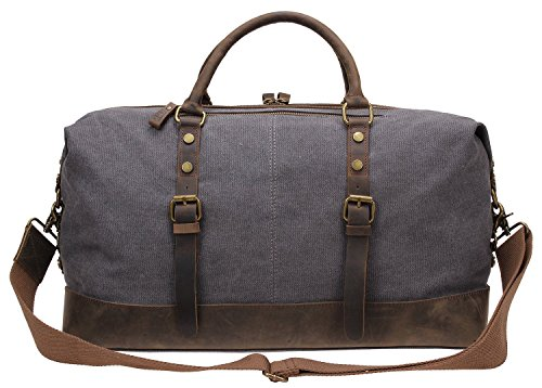 Shoulder Bag for travel, Berchirly Canvas Duffle Bag Weekend Luggage Sports Duffel Bags Unisex
