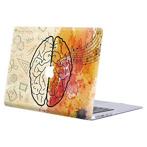 AJYX Funda para MacBook Pro 13 2016 2017 2018 2019 MacBook Pro 13 con/sin Touch Bar A2159 A1989 A1706 A1708 Plástico Dura Case Carcasa Protector de Plástico Cubierta, HR1 Cerebro Creativo