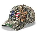 Under Armour Men's Camo Big Flag Logo Hat , Realtree Edge (991)/Scribe Blue , One Size Fits All