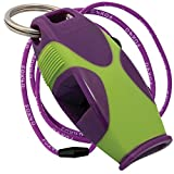 Tide Rider Fox 40 Sharx Whistle With Lanyard Coach Rescue Safety, Purple/Green