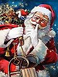 5D DIY diamante pintura Santa Claus cuadrado redondo diamante bordado Navidad dibujos animados mosaico arte diamante pintura A5 60x80cm