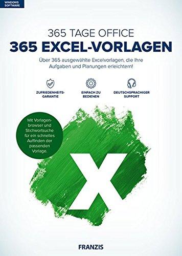 FRANZIS 365 Excel-Vorlagen|Excel|Über 365 ausgewählte Excelvorlagen|Microsoft Word 2016 / 2013 / 2010 / 2007 / 2003 / 2002 / 2000 / 97|Windows® 10/8.1/8/7|Disc|Disc