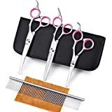 Best Dog Thinning Shears - Freewindo Pet Grooming Scissors Set with Safety Round Review
