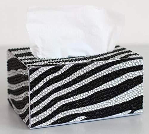 AMPLUCK Pintura de diamantes Caja de pañuelos tridimensional arte cosmético dispensador de pañuelos de bricolaje para niños DIY rompecabezas de dibujos animados decoración del hogar, 14.5x10.5x7.3cm