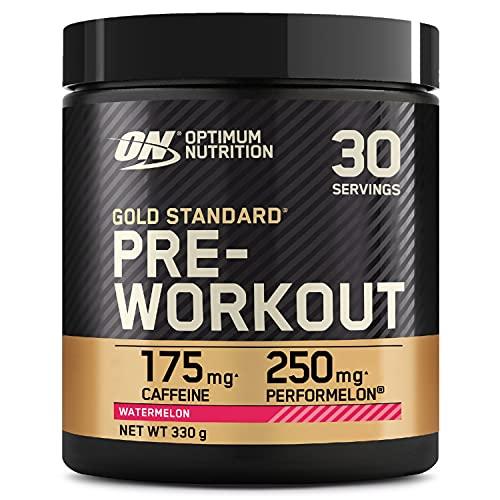 Optimum Nutrition Gold Standard Pre Workout, Energy Drink con Creatina Monoidrata, Beta Alanina, Caffeina e Vitamina B Complesso, Anguria, 30 Porzioni, 330g, il Packaging Potrebbe Variare