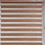 Upscale Designs 20215 Bamboo-Inspired - Zebra Sheer Striped Roller Blind / Shade, 24' x 78'