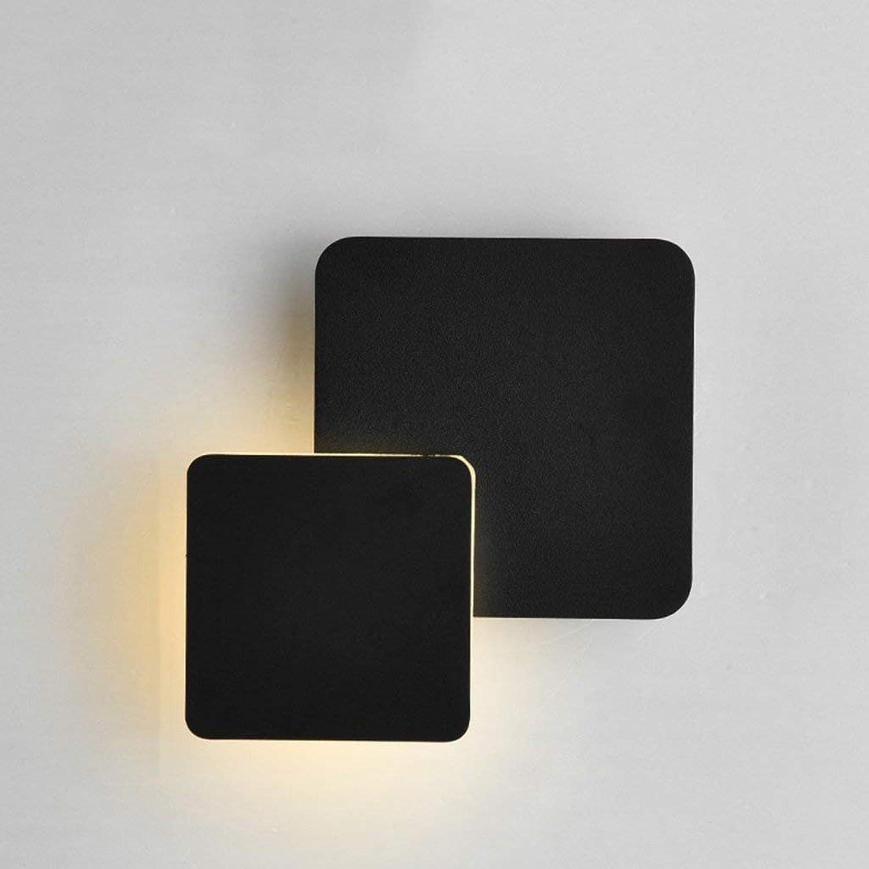 Lamps Beleuchtung, modernes minimalistisches Wand-Licht, 360 ° drehende Wandleuchte führte Schlafzimmer-Gang-Treppenhaus, Hauptwand-Beleuchtung
