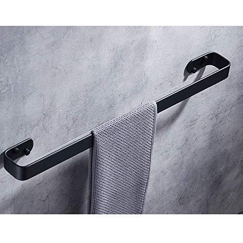 LiTingDz Barra de Toalla sólida Negra Americana Barra de baño Individual Parrilla de Toalla del Hotel Barra de Toalla (Size : 200MM)