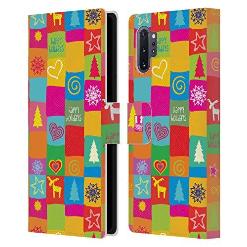 Head Case Designs Edredón Navidad del Hippie Carcasa de Cuero Tipo Libro Compatible con Samsung Galaxy Note10+