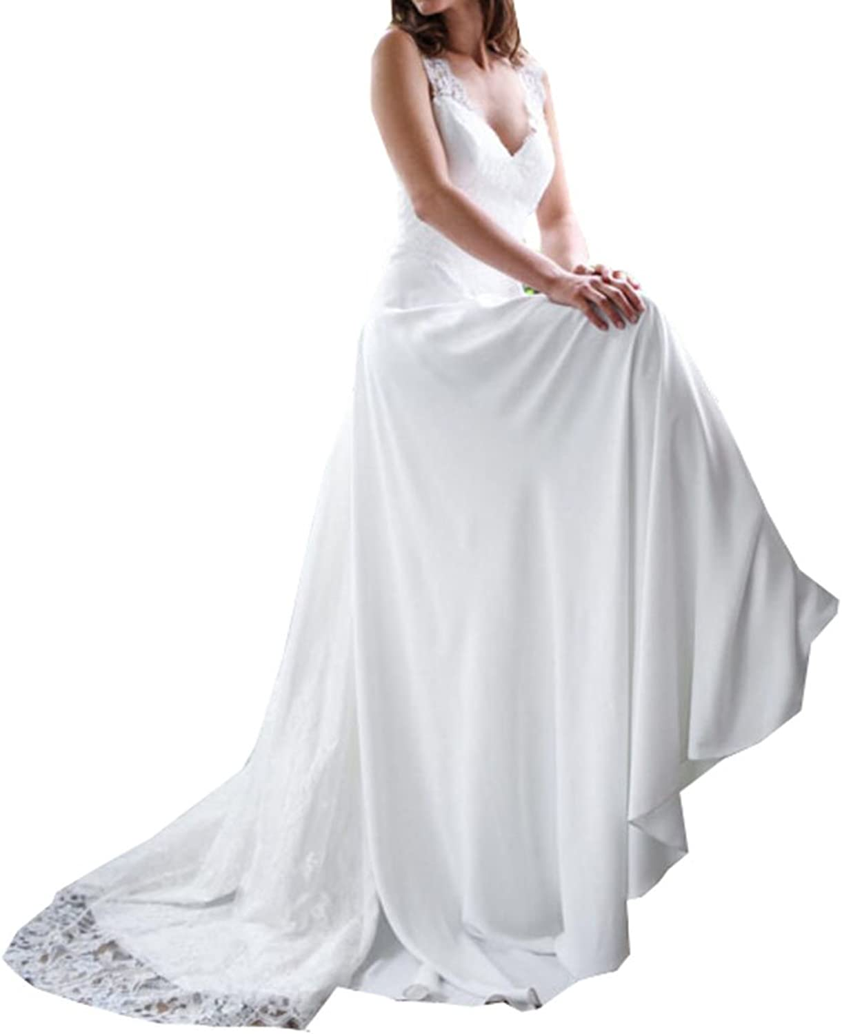 Special Bridal Strapless Wedding Dresses for Bride Lace Ruffled Long Beach Wedding Dress