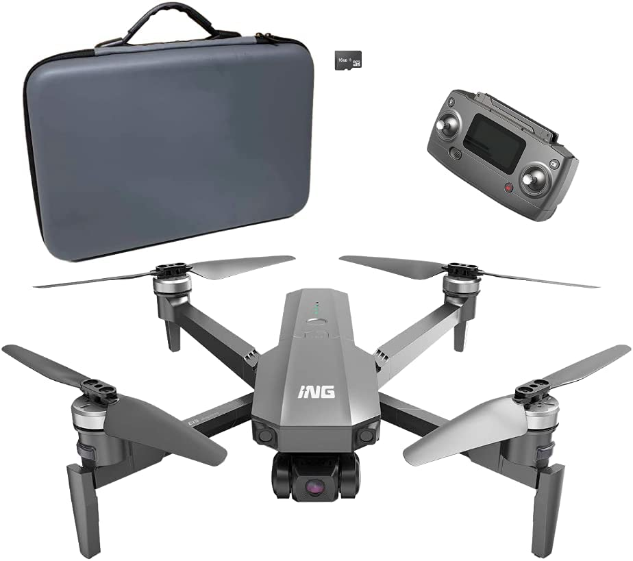 ING Speedbird I63E Foldable Drone Translated with Cheap 3-Axis Camera 4K EIS Gi