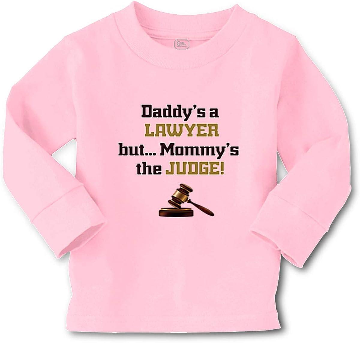 Custom Kids Long Sleeve T Shirt Daddy's Mommy's Adad Funny Boy & Girl Clothes
