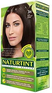 NaturTint Permanent Hair Colour - 3N Dark Chestnut Brown, Ammonia Free, Vegan, Cruelty Free, up to 100% Gray Coverage, Lon...