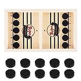 56 x 30 x 3 cm Slingpuck juego de mesa divertido rápido Sling Puck juego de madera Paced Sling Puck Juegos de mesa Juguetes Familiares Hockey Mesa para Niños Fiesta Familia