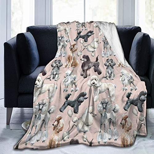 CGNGFNG Flannel Fleece Throw Blanket,Oodles of Poodles Printed Soft Warm Cozy Plush Microfiber Plush Blanket for Bedroom Living Room Couch Bed Sofa All Seasons 50'X40'