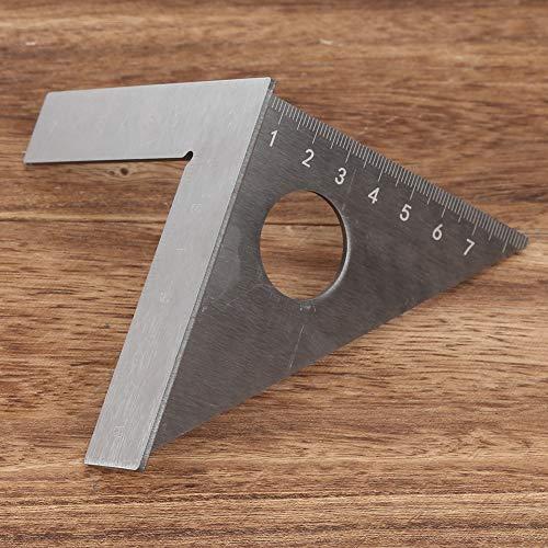 Medidor de ángulo recto para carpintería, herramienta de carpintería duradera de 90/45 grados, acero inoxidable para líneas paralelas, líneas superiores, líneas de ángulo, carpintero