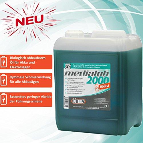 Medialub 2000 AKKU/Electro kettingzaag motorzaag kettingolie 5 L / 5 liter