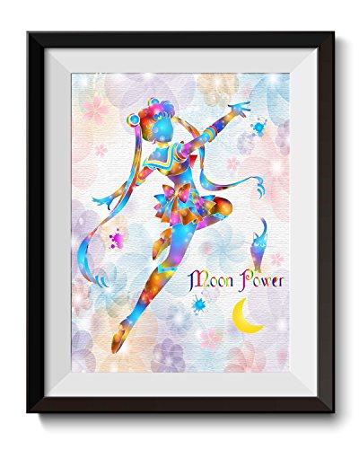 Uhomate Pretty Soldier Sailor Moon Home Canvas Prints Wall Art Inspirational Quotes Wall Decor Living Room Bedroom Bathroom Artwork C012 (8X10)