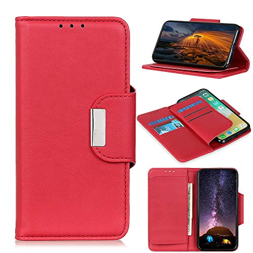 SWMGO® Capirotazo Billetera Funda para ASUS Zenfone MAX Pro(M1) ZB601KL (Rojo)