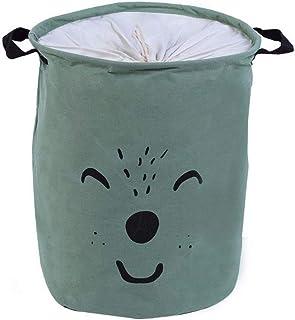 MJY Panier à linge rangement panier Organisation pliant jouet bureau coton en lin avec poignée vêtement divers panier de r...