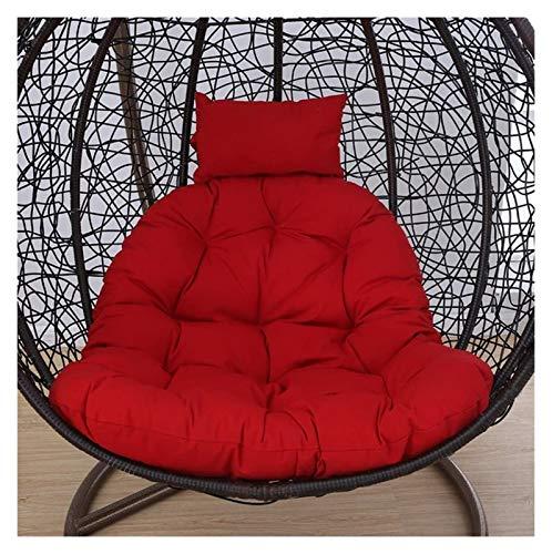 Colgando cesta colchoneta colchoneta, cojín de silla de huevo Cojines de silla de hamaca de huevo colgantes sin soporte, asiento de swing con cojín silla colgante de nido espeso de espalda con almohad