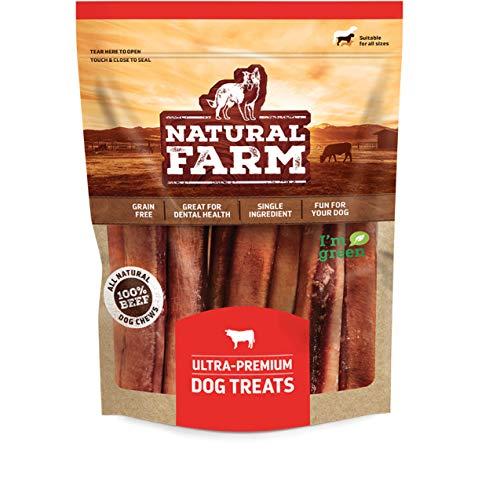 Natural Farm Odor Free Jumbo Bully Sticks 6-Inch (12 Units)-𝗘𝘅𝘁𝗿𝗮-𝗧𝗵𝗶𝗰𝗸 𝟭𝟬𝟬% 𝗕𝗲𝗲𝗳 - 50% Long Lasting Bully Stick