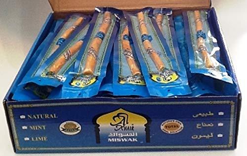 10 x Mixed Thickness Natural Toothbrush Sticks, Miswak, Siwak, Arak,...