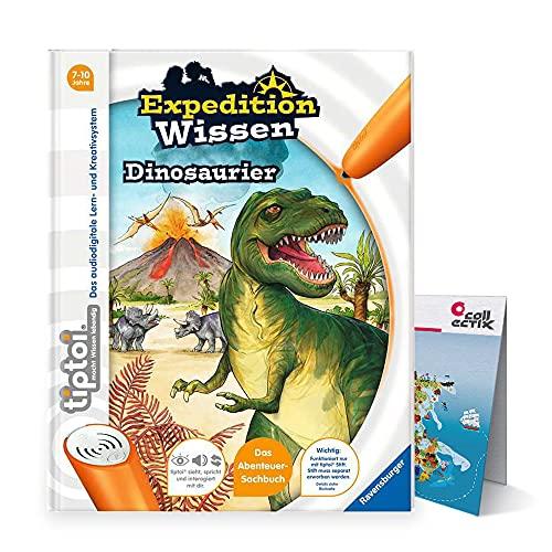 Ravensburger tiptoi ® Bücher Set   Expedition Wissen: Dinosaurier + Kinder Weltkarte - Länder, Tiere, Kontinente