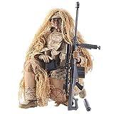 Mecotecn 1/6 Figuras Soldados, 12 Figura de Acción con Arma, Figuras Militares Conjuntos de Juegos - Francotirador del Desierto