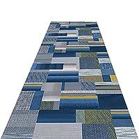 廊下ラグ・カーペット 長い青と灰色の廊下ランナーラグ、 洗えるヨーロピアンスタイルのカジュアルな幾何学的なエリアラグ、 ダイニングルーム/キッチン/ホームカーペットランナー (Size : 1.1x1m/3.6x3.3ft)