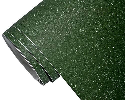 Neoxxim 24,22€/m2 Premium - Auto Folie - Glitzer Olive GRÜN RAU MATT 30 x 150 cm - blasenfrei mit Luftkanälen ca. 0,15mm dick