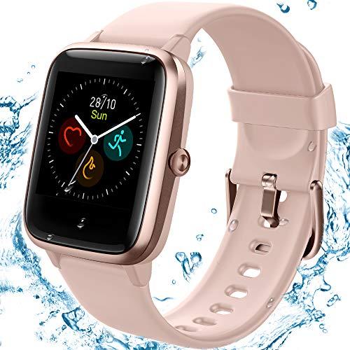 TEMNICE Smartwatch IP68 Pantalla Impermeable de 1.3 Pulgadas, Pulsera Inteligente con Monitor de sueño, Contador de calorías, Monitor de frecuencia cardíaca para Hombres y Mujeres