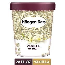 HAAGEN-DAZS Vanilla Ice Cream 28 Fl. Oz. Tub | No GMO Ingredients | No rBST | Gluten Free