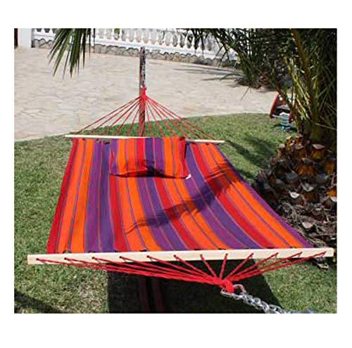 export sal hangmat Tropic lengte 340 cm van katoen met spreidstok zonder frame