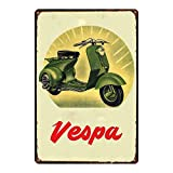 HALEY GAINES Vespa Scooter Metall Blechschilder Dekoration