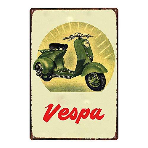 HALEY GAINES Vespa Scooter Muurblik Tekenen Decor Metalen Plaques Waarschuwing Notice IJzeren Schilderen Voor Bar Koffie Huis keukens Badkamers Garages 20 * 30cm