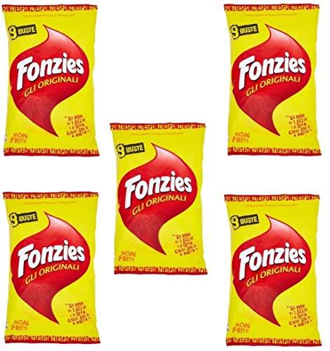 45x Fonzies 23g - Maissnack mit Käse 211g in 5 für 9 Portionstüten á 23g chips