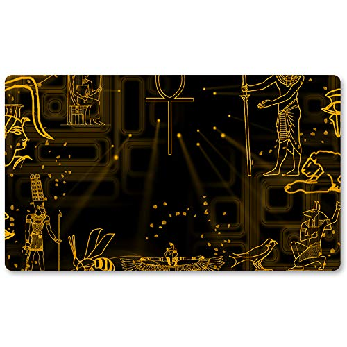 Tapis de jeu Yu-Gi-Oh! - Motif hiéroglyphe - 60 x 35 cm - Tapis de souris MTG pour Yu-Gi-Oh! Pokémon Magic The Gathering