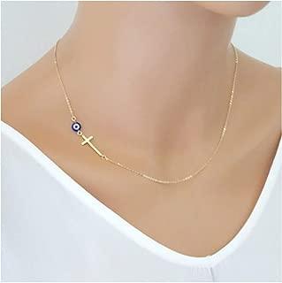 evil eye cross necklace