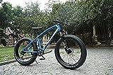 Leggero , Bici Hardtail Montagna, Doppio Freno a Disco Fat Tire Bike Cruiser,-Alto tenore di...