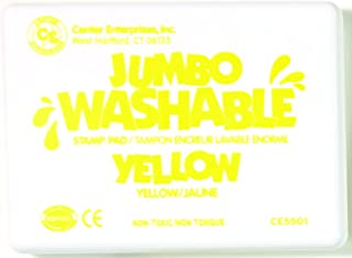 Center Enterprises Inc. Jumbo Washable Unscented Stamp Pad, Yellow