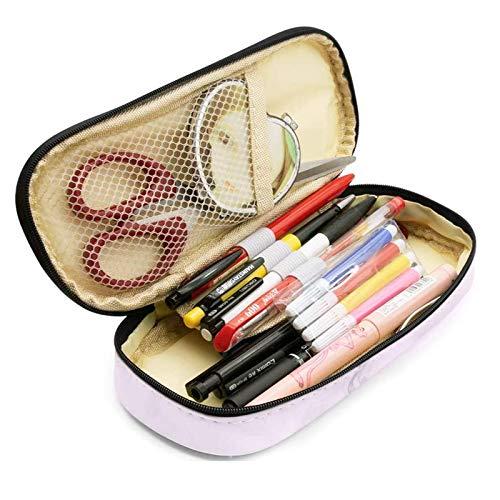 SPECOOL Federmäppchen, PU Große Kapazität Mäppchen Bleistift Beutel Halter Make-up Tasche Schreibwarenbox mit Halloween-Tattoo-Aufklebern für Jungen Mädchen Schule & Büro (Rosa)