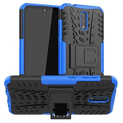betterfon | Nokia 2.3 Hülle Outdoor Handy Tasche Hybrid Case Schutzhülle Panzer TPU Silikon Hard Cover Bumper für Nokia 2.3 Blau