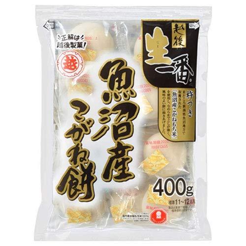 越後製菓 生一番 魚沼産こがね丸餅 400g×20袋入